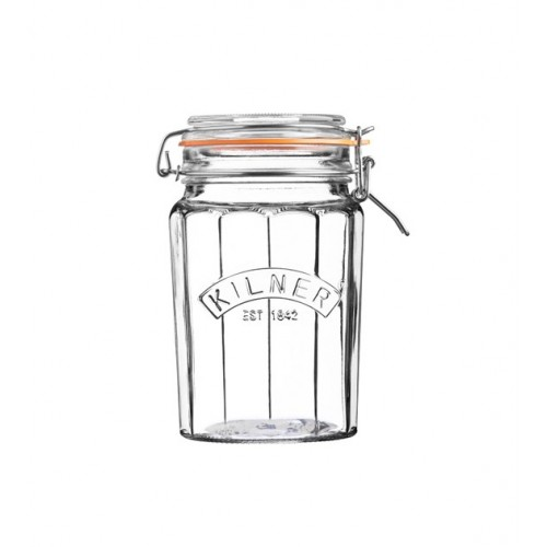 Kilner Słoik 0,95L Facetted Clip Top Jar